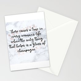 Champagne love Stationery Cards