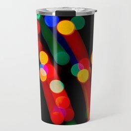 Bokeh Christmas Lights With Light Trails Travel Mug