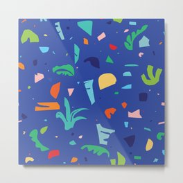 Shapes of Tropicalia / Colorful Abstraction Metal Print