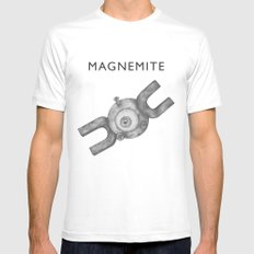 Magnemite #081 White Mens Fitted Tee SMALL