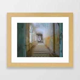Lost Places, Beelitz Heilstaetten corridor Framed Art Print