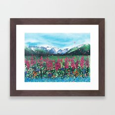 Fire in the Valley Framed Art Print
