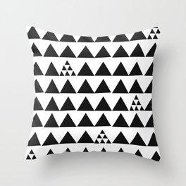 Black geometric print Throw Pillow