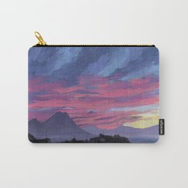 Sunrise behind Vesuvius, New Year Carry-All Pouch