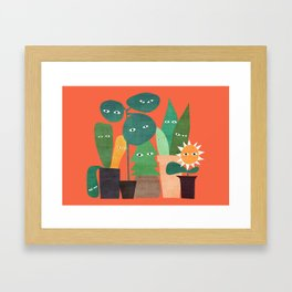 The plants are watching (paranoidos maximucho) Framed Art Print