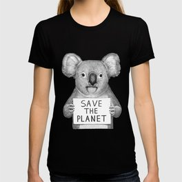 Koala save the planet T-shirt