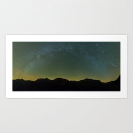 Autumn milky way Art Print