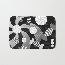 Black and White Sugar Crush Bath Mat