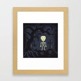 Skeleton boy artwork Framed Art Print