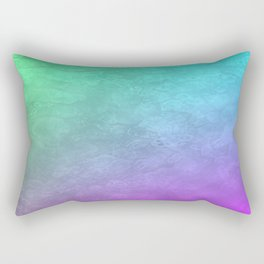 Aqua Sunset Rectangular Pillow