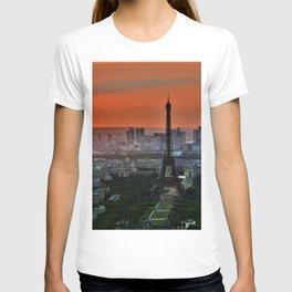 Paris, France & Eiffel Tower Sunset T-shirt