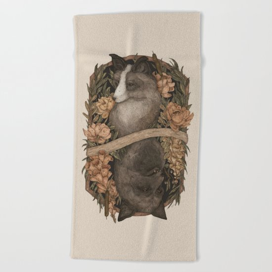 Friend Fox, Foe Fox Beach Towel