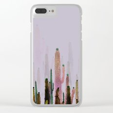 cactus water color colors Clear iPhone Case