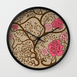 Fleur Rose Wall Clock
