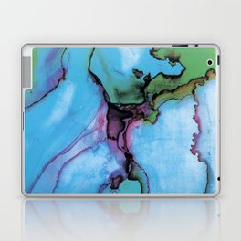 Blue cian abstract Laptop & iPad Skin