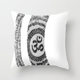 Om Nama Shivaya Throw Pillow