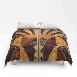 art deco wood Comforters