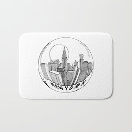 the city of New York in a suspended bowl Bath Mat