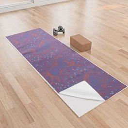 Wild Horses by Friztin - Ultra Violet Yoga Towel