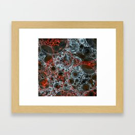 Red Black Bubble Abstract Design Framed Art Print