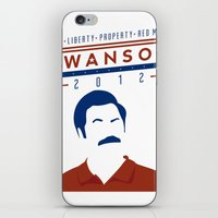 swanson iPhone & iPod Skins featuring Swanson 2012 by Clarke Hall