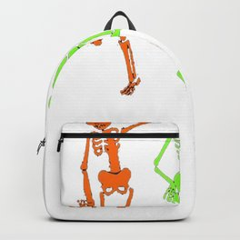 Skeleton tshirt Halloween Costume Three Glow in the Dark Backpack