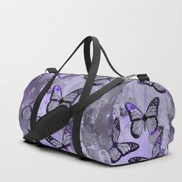 Abstract Butterfly Art Ultraviolett Colors Duffle Bag