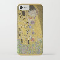 gustav klimt iPhone & iPod Cases featuring The Kiss - Gustav Klimt by Elegant Chaos Gallery