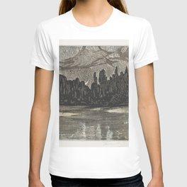 Nachtelijk landschap met trekvogels (1878-1907) print in high resolution by Theo van Hoytema T-shirt