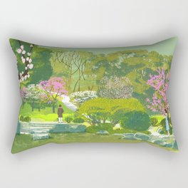 Ume Blossoms Rectangular Pillow