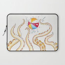 Octopus Tentacles Playing Beach Ball Ink Laptop Sleeve