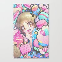 barachan Canvas Prints featuring makokashi by barachan