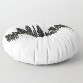 Cincinnati Skyline Black and White Floor Pillow