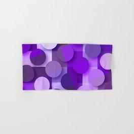 squares & dots violet Hand & Bath Towel
