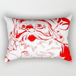 Red Old School Santa (Color) Rectangular Pillow