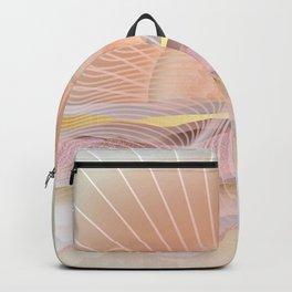 Glittering Sunset Waves Backpack