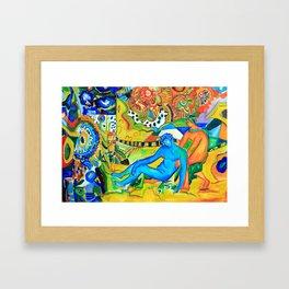Il conforto dell'artista - the artist's comfort Framed Art Print