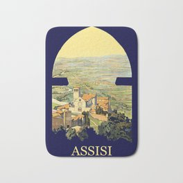 Vintage Litho Travel ad Assisi Italy Bath Mat