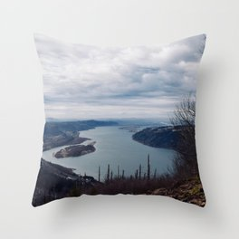 The Gorge in the Fall Throw Pillow