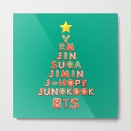 BTS Christmas Tree (BTS members) Metal Print