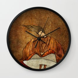Leonora or The not crying onion Wall Clock