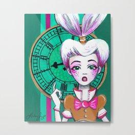The White Rabbit Metal Print
