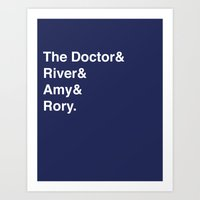 doctor Art Prints featuring Doctor& by Dweezle