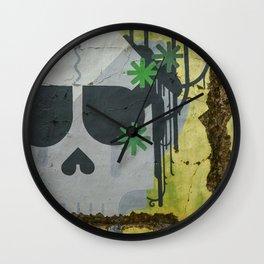 Skull Graffiti, Cambodia Wall Clock