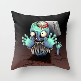 Zombie Monster Cartoon Doll Throw Pillow