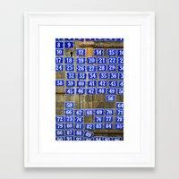 numbers Framed Art Prints featuring Numbers by Marieken
