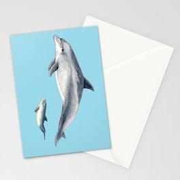 Blue Bottlenose dolphin Stationery Cards