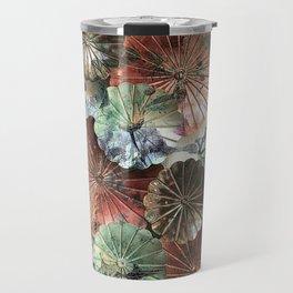 Abstract textured pastel floral still life Travel Mug