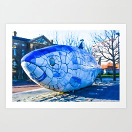 The Big Fish Art Print
