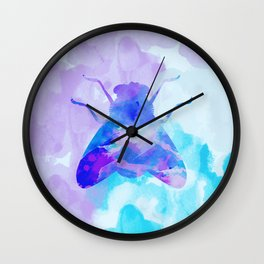 Abstract Fly Wall Clock